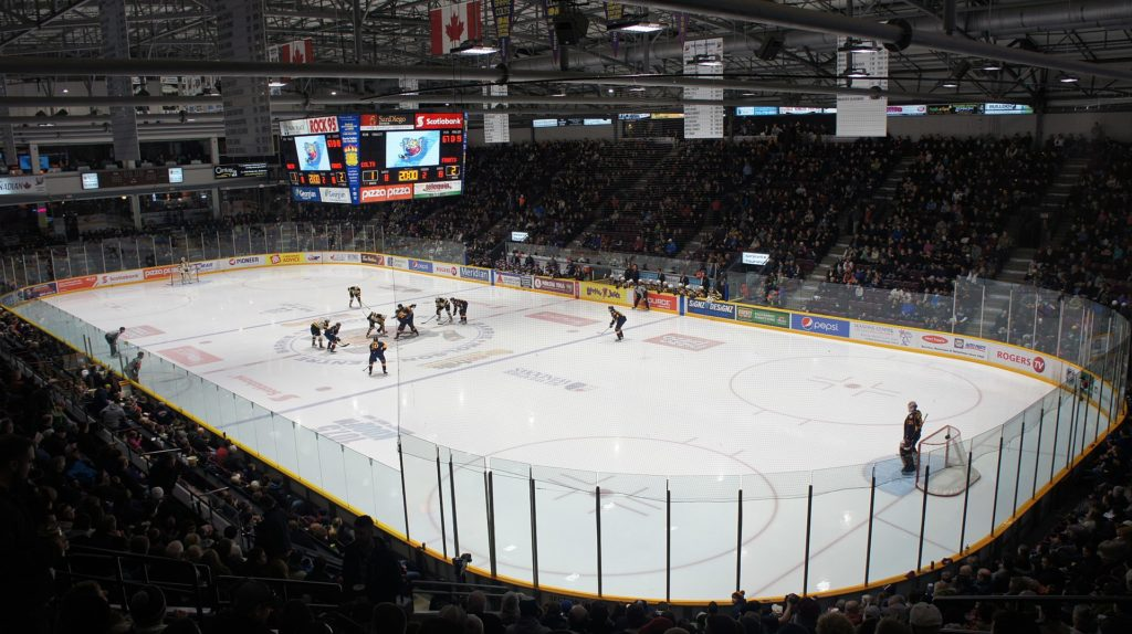 Inside the Barrie Molson Centre - Georgian International