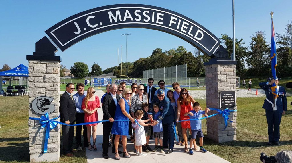 ribbon cutting of J.C. Massie Field
