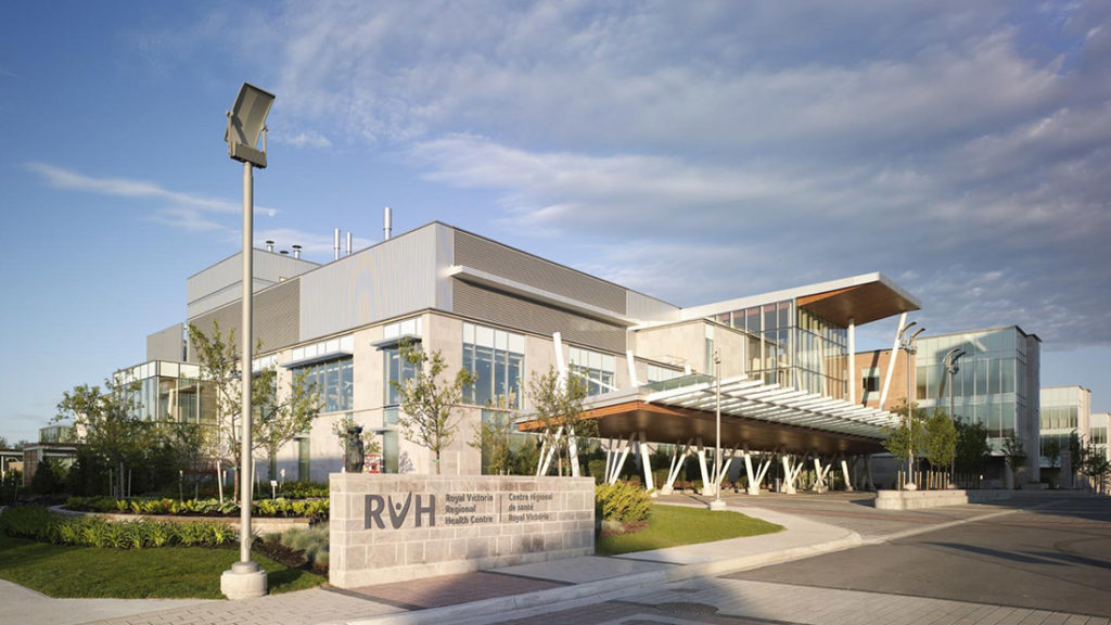 Image of the New Part of the Royal Victoria Hospital In Barrie - Georgian International